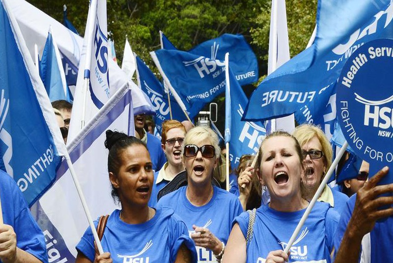 अष्ट्रेलियामा हजारौँ स्वास्थ्यकर्मी एकैपटक आन्दोलनमा