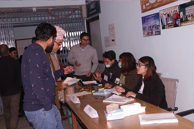 चिकित्सक संघको निर्वाचन : पहिलो दिनको मतदान
