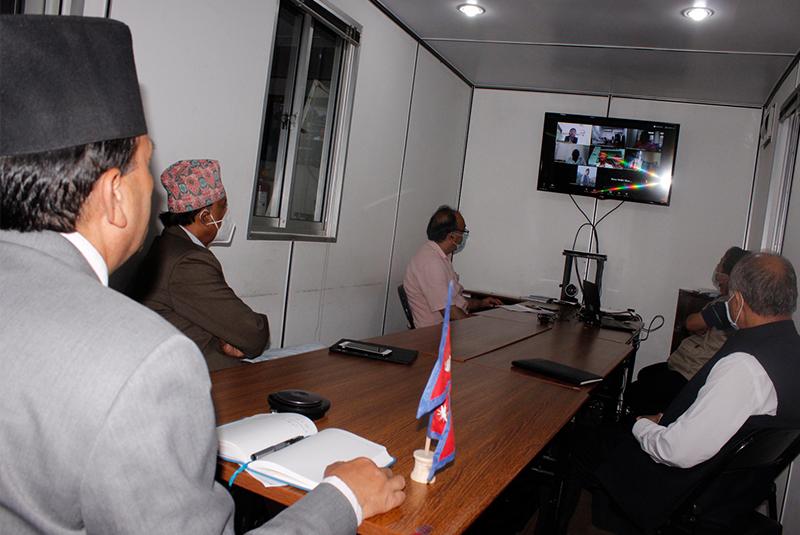 स्वास्थ्य मन्त्रीद्वारा सातै प्रदेशका सामाजिक विकासमन्त्रीसँग छलफल