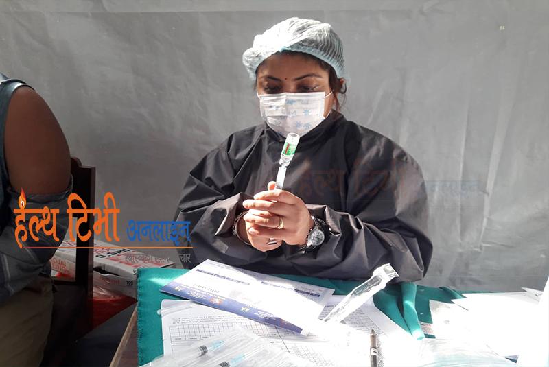 नेपालमा ४ लाख २९ हजार ७०५ जनाले लगाए कोरोना विरुद्धको पहिलो डोज खोप